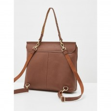 White Stuff Amber Spot Tan Leather Rucksack