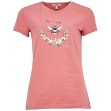 Barbour Bowland Tee Dusty Pink