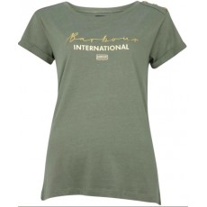 Barbour International Grid Tee Light Army Green
