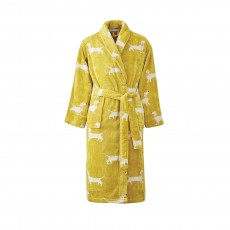 Joules Gold Sausage Dogs Bath Robe S/M