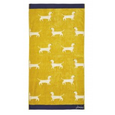 Joules Gold Sausage Dogs Towel