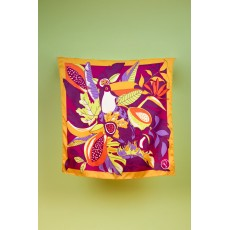 Powder Fruity Toucan Small Satin Square