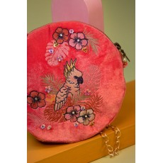 Powder Cockatoo Velvet Bag Pink