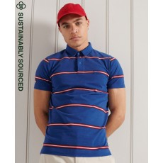 Superdry Academy Stripe Short Sleeve Polo
