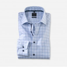 Olymp Patterned Shirt White/Blue
