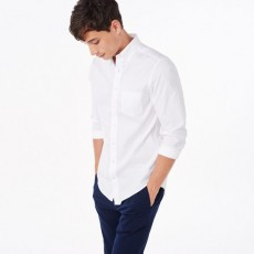 Gant The Pinpoint Oxford LS Shirt White