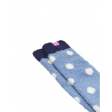 LONG FLUFFY SOCKS LTBLUE