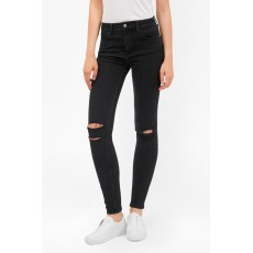 French Connection Rebound Ripped Knee Skinny Black