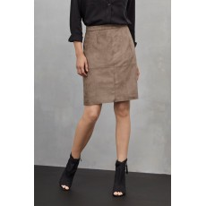 Great Plains Easily Swaid Skirt Cinder Taupe