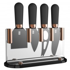 Brooklyn Copper 4pc Cheese Knife Set