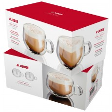 Judge 2Pc Cappuccino Glass Set