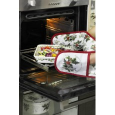 HOLLY & IVY DBL OVEN GLOVE