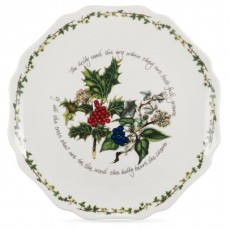 HOLLY & IVY SCALLOPED PLATTER