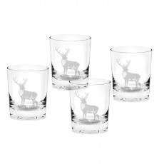 STAG DOUBLE OLD FASHIONED GLASS SET4