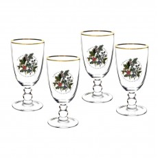 HOLLY & IVY GOBLETS SET4