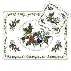 HOLLY & IVY COASTERS SET6