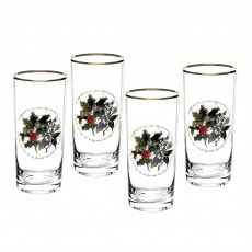 HOLLY & IVY HI-BALL GLASSES SET4