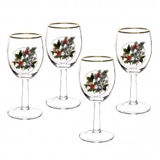 HOLLY & IVY WINE GLASSES SET4