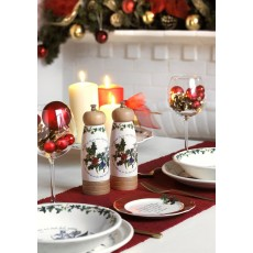 "HOLLY & IVY 6"" PLATE SET6"