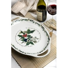 "HOLLY & IVY 13"" OVAL PLATTER"
