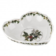 HOLLY & IVY SCALLOPED HEART DISH
