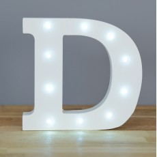 Light Up Letter D