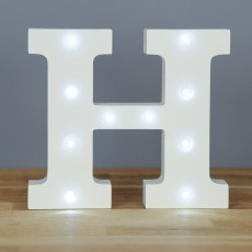 Light Up Letter H
