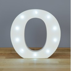 Light Up Letter O