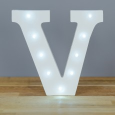 Light Up Letter V