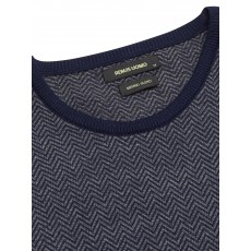 Remus Uomo LS Crew Neck Sweater Blue