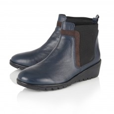 Lotus Navy Leather Boots
