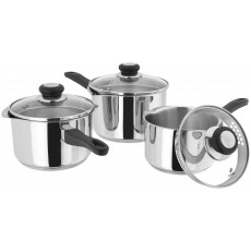 Judge Vista 3 Pce Saucepan Set
