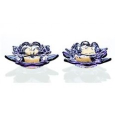 PURPLE LOTUS TEALIGHT PAIR