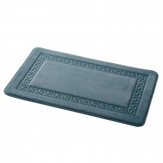 Grecian Memory Foam Bath Mat Smokey Blue