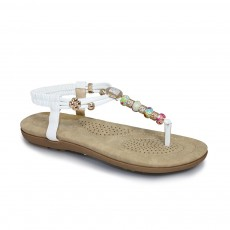 Lunar Beech Beaded Sandal