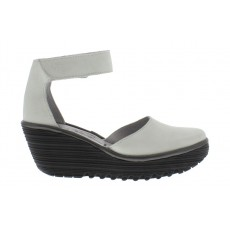 Fly London Brito OffWhite/Black Sandal