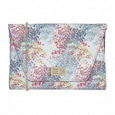 Lotus Bains Handbag Blue Digital Print