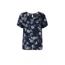 Blouse Woven Short Sleeves Navy