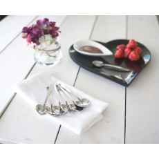 Just Slate Spoons Heart Set6