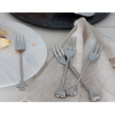 Heart Pastry Forks Set4