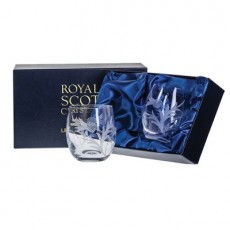 Royal Scot Flower of Scotland Whisky Tumblers Pair