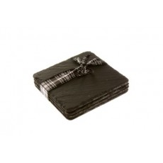 Just Slate Coasters Square Boxed Set4