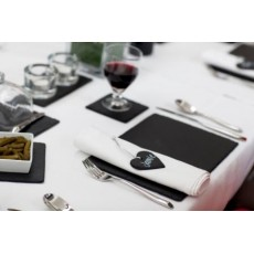 Just Slate Placemats Rect Boxed Set2