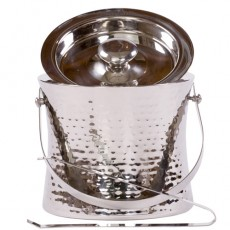 Elegant Ice Bucket Hammered