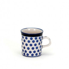 Country Pottery Small Blue Dot Mini Mug