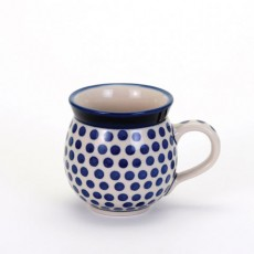 Country Pottery Small Blue Dot Gents Mug
