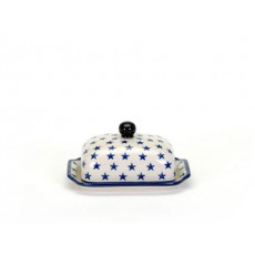 Country Pottery Butter Dish Morning Star