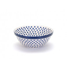 Country Pottery Small Blue Dot Serving Bowl 24cm