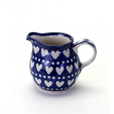 Country Pottery Creamer Heart To Heart
