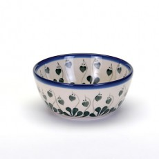 Country Pottery Cereal Bowl Love Leaf